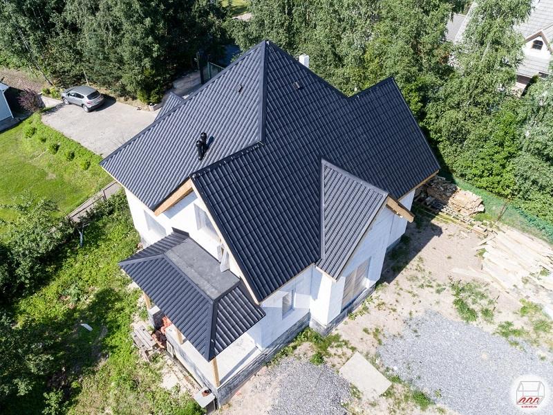 дом из пеноблоков сверху